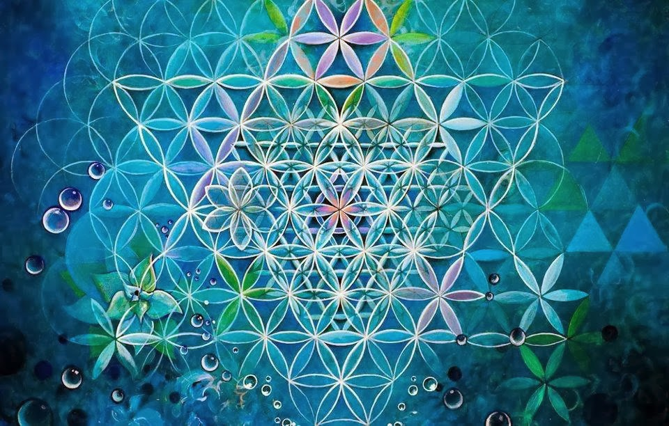 The Importance of Transcending the 7th Chakra sacred geometry aquatic flower of life